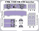CH-47 Chinook interior set for Italeri