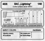 BAC Lightning - control surfaces set for AIR