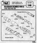 Russian bombs WW II - FAB 100, FAB 250