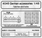 German accesories - hatches and locks