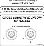Q.Chevr.4x4 wheels10,5x20 Cros Country(Dunlop)ITA