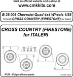 Q.Chevr.4x4 wheels10,5x20 Cros CountryFirestone)ITA