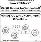 Quad Ford 4x4 wheels10,5x20 Cros FirestoneITA