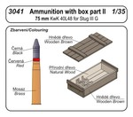 Ammunition with box part II (75 mm KwK 40L48 for Stug III G)