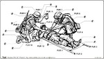 US Marines in Iraq-wounded soldier on stretcher and 2 medics (3 fig)