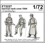 German tank crew 1944 (3 standing figures)