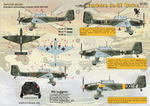Junkers Ju - 87 Stuka Wet decal The complete set 2 leaf.