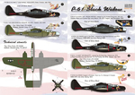P-61  Black Widow Part 1 Wet decal