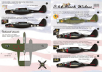 P-61  Black Widow Part 2 Wet decal