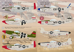 P-51 Mustang-D The complete set 2 leaf Wet decal