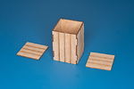 Natural wood box (oryginal dim,:45cm x 45cm x 70cm) (4 pcs)