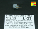 Set of 16 pcs 133mm  (5,25in) barrels QF Mk.1 for Royal Navy King George V class battleships & cruis