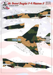 F-4 Phantom Technical stencils Dry decal