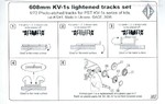 KV-1s 608mm wide tracks (for PST KV-1s series of kits)
