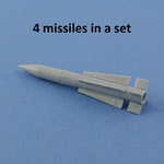 AIM-54 phoenix missile  (4 pcs In the set, decal)