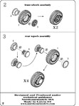 Set of wheels, front and rear hubs, 8 pcs. YA-190 tyres for KrAZ-214 (Roden model kit)