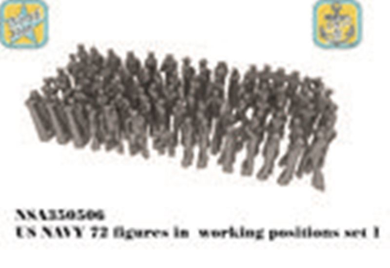 US NAVY figures in  working positions set 1