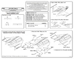 JAS-39C Gripen – Corrected Ailerons and Flaps Actuator Fairings 1/48 for KittyHawk kit