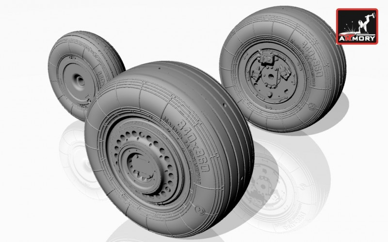 1/32 Sukhoj Su-25 Frogfoot wheels