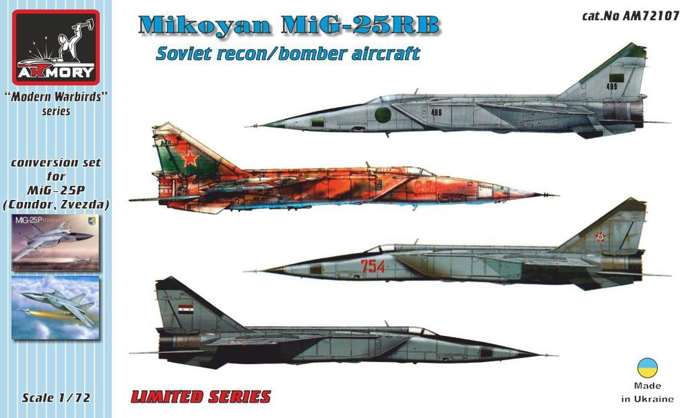 1/72 Mikoyan MiG-25RB recon/bomber conversion set