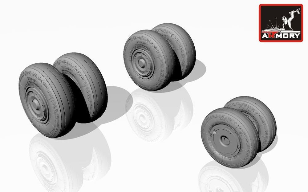 1/48 Sukhoj Su-24 Fencer wheels, late