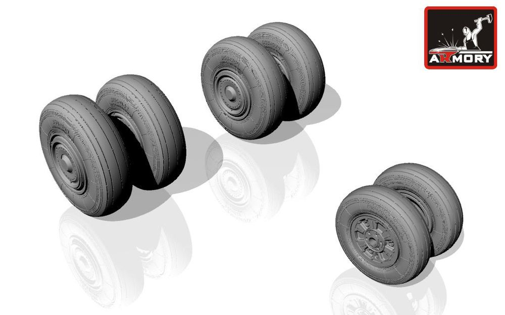1/72 Sukhoj Su-24 Fencer wheels (early)