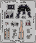 "Typhoon Mk.I ""Bubble Canopy"" – Interior 1/72 set for Airfix"