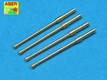 Set of 4 barrels for Japanese 20 mm Type 99 aircraft machine cannons