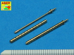 Set of 2  cal .50 (12,7mm) standard barrels for US aircraft machine guns Browning M2