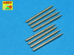 Set of 6 turned U.S. cal .50 (12,7mm) Browning M2 barrels for P-51 Mustang