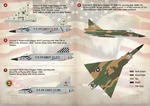 F-102 Delta Dagger Part2 The complete set 1,5 leaf  Wet decal