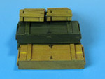 Wooden ammo boxes for 8.8 cm Kw.K.36 guns.