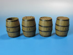 Wooden barrels for water, beer, wine and strong beverages.
