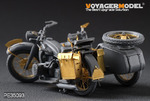 WWII German Motorcycle R-12(For Zvezda 3607)