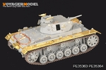 1/35 WWII German Pz.KPfw.III E-H Version/StuG.III A-E Version Fenders (For DRAGON Kit)