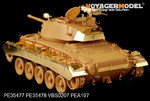 WWII US M24 Chaffee (Early Prod) Light Tank basic(For Bronco 35069)