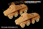 WWII German Sd.Kfz.232 8ROD early version(For AFV CLUB 35232)