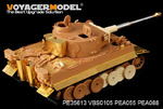 WWII German Tiger I Early Production (smoke discharger include )(For zvezda 3646)