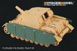 1/35 WWII German Sturmpanzer IV Brummbar Early Version Side Skirts (For Tristar 35038)