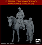 1\35 US Special forces on horse+Afghanistan fighter