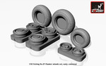 1/32 Sukhoj Su-27 Flanker wheels, early