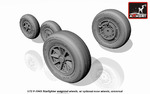 1/72 F-104G Starfighter wheels (w/ optional nose wheels)