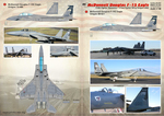 McDonnell Douglas F-15 Eagle Wet decal The complete set 2 leaf