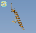 Ladder for Su-27 UB two seat figter series
