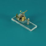 6 pcs USN 40 mm/56 Bofors twin mount ver.1/with Mk-51 director, resin, PE, brass barels