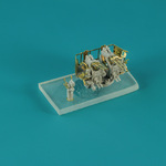 6 pcs USN 40 mm/56  Bofors quad mount ver. 1/with Mk-51 director,  resin, PE, brass barels