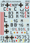 He-111 P-1, P-2, P-4 & P-6 Scale 1/72 Wet decals.