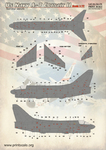 Us Navy A-7 Corsair Technical stencils  Scale 1/72 Wet decals.