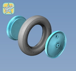 Wheels set for Soviet Polikarpov I-16 No mask