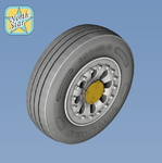 F-15 A/B/C/D Wheels set. No mask series